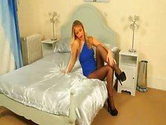 beauty blonde high heels