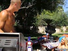 big boobs blonde blowjob hardcore outdoor