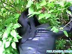 PublicAgent UK Underwear model fucked in the bushes in Prague