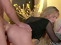 MOM Blonde bombshell MILF worships the cock that fucks her