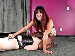 brunette femdom fetish nylon