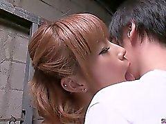amateur asian cum in mouth kissing