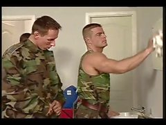 Two soldiers follow the sergeant orders ...