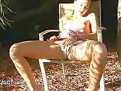 schoonheid klaarkomen masturbatie buiten dun