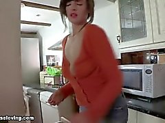 big-boobs mom mother teasing