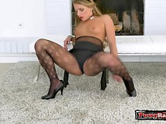 blonde fetish masturbation nylon