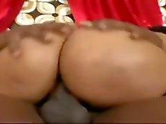 black and ebony creampie doggy style hardcore small tits