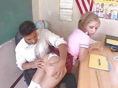 babe pigtail schoolgirl blonde hardcore