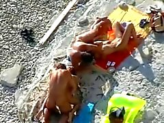 2 Couples fuck on beach