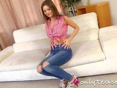 teasing teenager pantyhose-tease