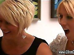 blonde blowjob brunette cfnm