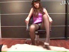 asian pantyhose foot fetish footjob