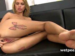 blonde fetish masturbation