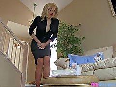 peeing pantyhose secretary hd