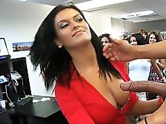 big cocks blowjob brunette cfnm handjob