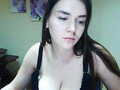 amateur big boobs brunette striptease