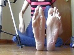 So Sweaty So Smelly! BIG Feet!!