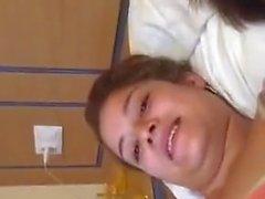 2 hot latina teens having selfie fun with cam