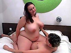 bbw big boobs blowjob