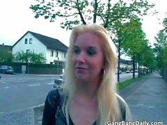 blonde gang bang group sex