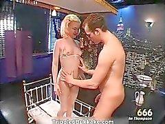 anal babe blonde bukkake cumshot