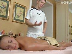 pipe brunette massage