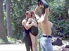 public à l'extérieur 3some français
