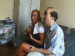 amateur blonde blowjob french