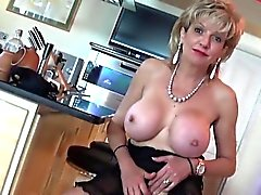 big boobs blonde british european femdom
