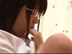 Softcore teasing amateur Japanese assfucking