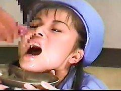amateur asiatisch abspritzen gesichts dreier