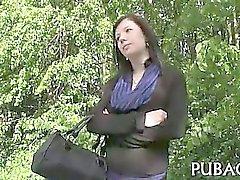 amatör brunett hardcore offentlig