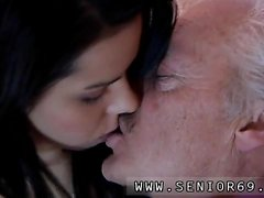 blowjob brunette handjob old young