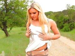 babe lingerie nylon outdoor posing