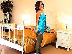 babe brunette stockings