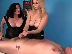 big boobs blonde brunette femdom fetish