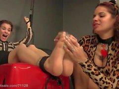 nylon-feet tickle-nylon pantyhose feet