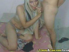 Horny Tranny Couple Fucks Lustfully