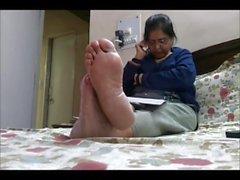 maduro pés de da índia pés de velho
