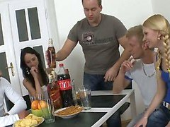 amateur blowjob drunk group sex