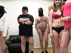 blowjob brunette facial group sex