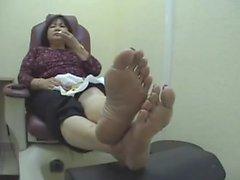 old mature feet