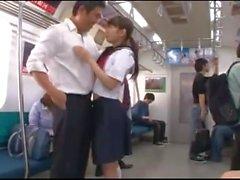 zierlich groß titten öffentliche jav japanische öffentlichkeit zug