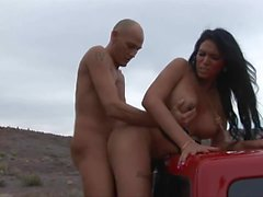 marjorie luvana big tits outdoor guy fucks shemale sucking