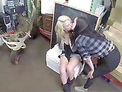 Lesbian couple filmed kissing for pawn cash