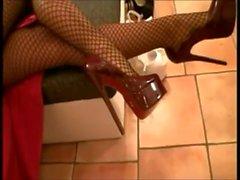 foot fetish latex nylon
