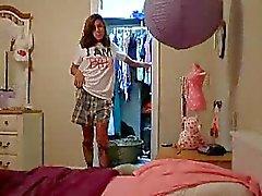 solo girl striptease