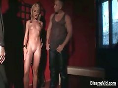bdsm blond esclavage fétiche bâillonnement