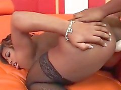 black and ebony fingering lesbian