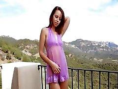 outdoor redhead teasing brunette masturbation